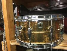 Vintage Ludwig Hand Hammered 6.5x14 Bronze 402 Snare Drum- Excellent Condition!!