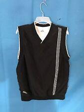Vintage 1990s 90s Adidas Black Golf Vest Mens Sportswear Medium Reversible