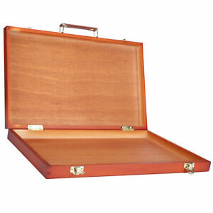 Wooden Painting Tool Storage Box Portable Drawing Oil Painting Case Accessory