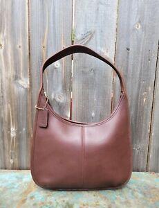 VTG Coach #9025 Ergo Hobo Shoulder Bag Brown Leather Made in USA