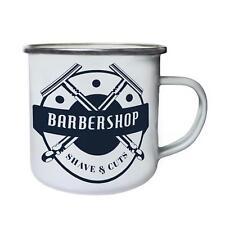 Barber Shop Shave And Cuts Funny Retro,Tin, Enamel 10oz Mug g520e