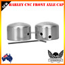 Chrome Front Axle Nut Cover Cap Harley Softail Sportster Dyna Road King vrod gli