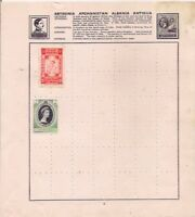 ANTIGUA +ETHIOPIA stamps on an album page.
