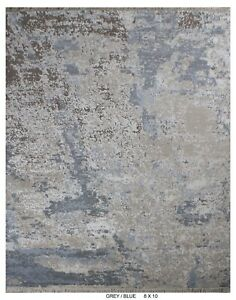 8'x10' Rug | Hand knotted Contemporary rugs Wool & Natural Silk (real silk)