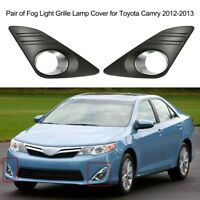 Pair Front Fog Light Grille Grill Lamp Cover Cap for Toyota Camry 2012-2014 13