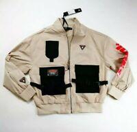 Hudson Outerwear mens 100% authenitc L/S zip up jacket size large beige icons