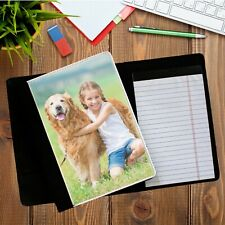 Personalised Deluxe Fabric PHOTO Notebook Holder with Notepad N1 Office Home