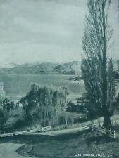 ANTIQUE PRINT LAKE WANAKA OTAGO VINTAGE PHOTO PRINT FROM C1930'S NEW ZEALAND