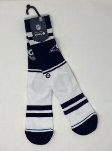 NFL x Stance Socks Team St. Louis Rams White Blue Mens Large 9-12