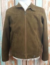 Emporio Brown Large Cotton Blend Jacket Made In Italy