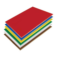 Hygiplas Low Density Commercial Kitchen Chopping Board 600x450x20mm (Set of 6)