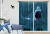 3D Ocean Shark Bite Tooth N172 Photo Curtain Printing Fabric Window Vincent Amy