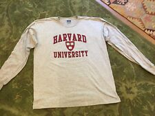 Harvard University Long sleeve Grey T Shirt  NWT size M, XL, XXL 100% Cotton
