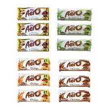 Aero Chocolate Bar 100g Variety Pack 3 Each Chocolate Peppermint Orange Caramel