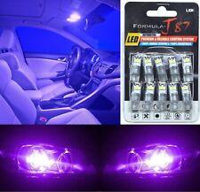 LED 3030 Light Purple 12000K 194 Ten Bulbs Rear Side Marker Parking Replacement