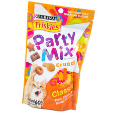 Purina Friskies Party Mix Cat Treats Crunch Feline Feeding Snacks Resealable 60g