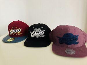 3 X Cleveland Cavaliers Caps Cap Hat Basket Ball New Era Mitchell & Ness 9FIFTY
