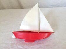 Ancien jouet bateau voilier en plastique - marque ELDON Los Angeles