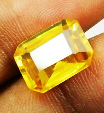 Natural 9.20 Ct Untreated Emerald Cut Ceylon yellow Sapphire Loose Gemstone