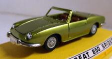 Hito 1/43 escala M317 SEAT 850 Araña Coche Modelo Diecast Verde Metálico