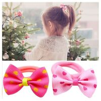 Baby Hairband Children Kids Bow-knot Hair Tie Rope Sweet Dot Ponytail Holder