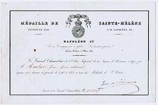 1093 A-AUTOGRAPHE-SAINTE-HÉLÈNE-NAPOLÉON-LEBRUN-GARDE NATIONAL-ROUHIER-1821