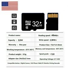 32GB Micro SD Card TF Memory Card HC Class10 for Mobile Phones Camera 80MB/s