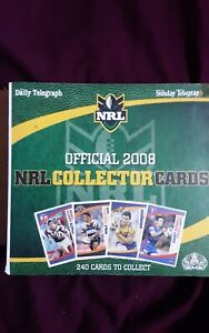 2008 NRL Daily Telegraph Collector Cards Full Set + Album