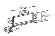 "Window Sweep Latch Sash Lock, Bronze, 7/16"" Latch Projection, 2-1/4"" Screw Holes"