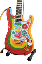 Miniature Guitar THE BEATLES George Harrison ROCKY & Strap