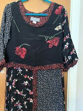 vintage carol anderson dress Boho Black Ditsy Flowers