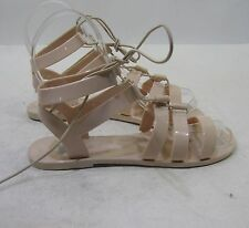 NEW Skintone  Summer Beach Lace Open Toe Flat Jellies Jelly Sexy WOMEN SIZE  10