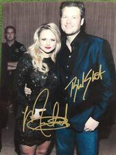 Blake Shelton And Miranda Lambert 8 X 10 Color Autographed Photo Reprint
