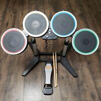 Harmonix NWDMS2 Nintendo Wii Rock Band 2 Wireless Drum W/Pedal & Drumsticks