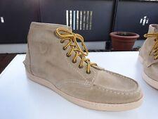 STATE OF ART Herren Schuhe HIGH TOP Sneaker Wildleder Beige Gr.44 Neuw