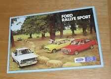 Ford Escort Rallye Sport Brochure 1976 - Escort RS1800 RS2000 RS Mexico