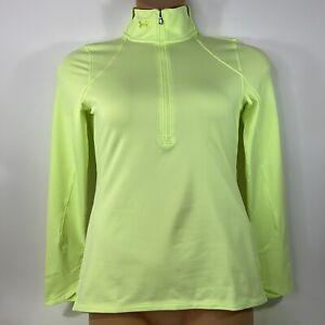 Under Armour ColdGear 1/2 Zip Running Pullover Yellow 1360317 Women's Small S