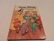 POP-UP BOOK SNOW WHITE AND THE SEVEN DWARFS 1982 pull tags LYNN SHOOK P HALLEY
