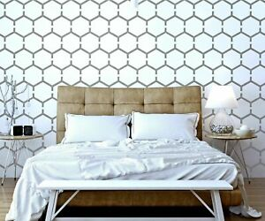 HONEYCOMB Modern Geometric Hexagon - Furniture Wall Floor Stencil for Painting
