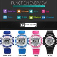 Waterproof Children Boys Digital LED Sports Watch Kids Alarm Date Wrist Watches