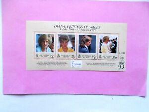 ASCENSION ISLAND : 1998  Princess Diana Sheet of 4 stamps  U/m MS741