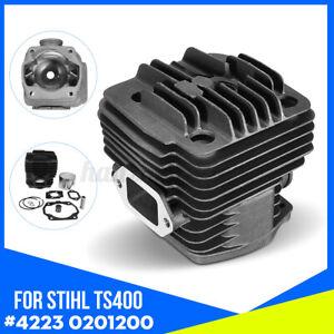 Cylinder Piston Gasket Bearings Top End Rebuild Kit Set Metal For STIHL TS400