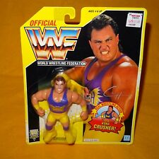 VINTAGE 1993 90 S HASBRO WWF WRESTLING SERIE 7 Crush Action Figure MOC cardate
