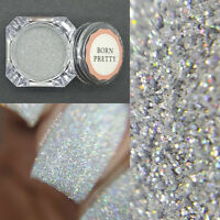 1g/Box Holographic Holo Silver Laser Powder Manicure Nail Art Glitter Decor DIY