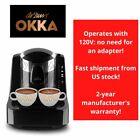 Arzum Okka Automatic Turkish Coffee Maker, Machine, USA 110/120V UL, Black/Silve