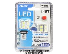 NEW Pilot Automotive 1157 WHITE LED Bulb, 2-Pack IL-1157W-15 12V 3W Bulb