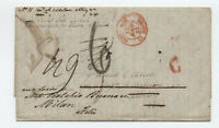 1845 hartford to France forwarded to Italy stampless [H.385]