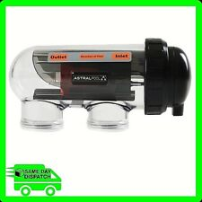 Hurlcon / Astral Vx9 Salt Water Chlorinator Replacement Cell W. Housing -genuine