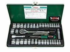 """Zoll Werkzeug Satz Harley 12-kant Steckschlüssel 1/4"""" + 3/8"""" metrisch+Zoll Nüsse"""