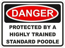 Dog Breed STANDARD POODLE Danger Sticker Pet For Bumper Locker Car Door